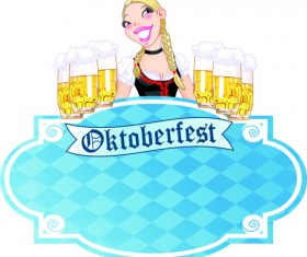Set of Oktoberfest Girl Vector graphic 06
