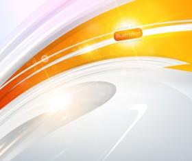Sparkling Orange backgrounds vector graphics 01