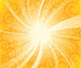 Sparkling Orange backgrounds vector graphics 04