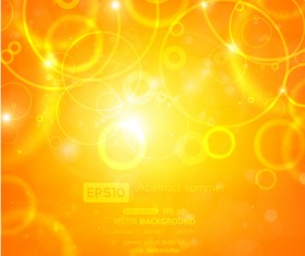 Sparkling Orange backgrounds vector graphics 05