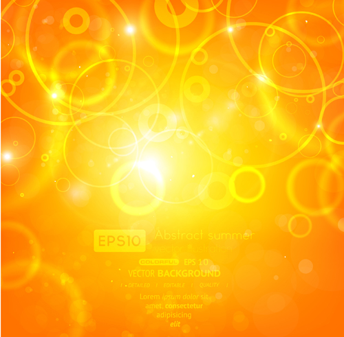 Sparkling Orange backgrounds vector graphics 05
