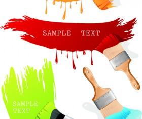 Colorful Paint elements art vector 01