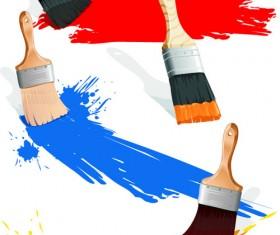 Colorful Paint elements art vector 04