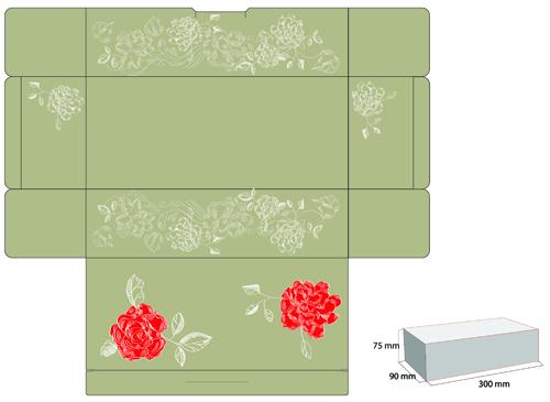 tissue paper box design vector 2