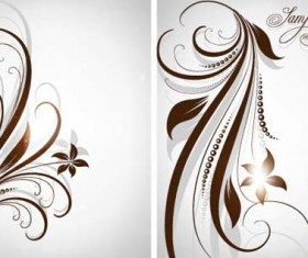 Different Patterns of floral design vector 02