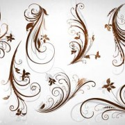 Link toDifferent patterns of floral design vector 03