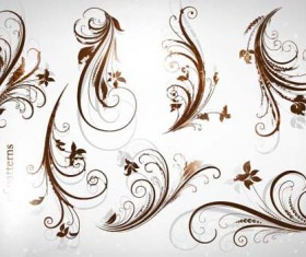 Different Patterns of floral design vector 03