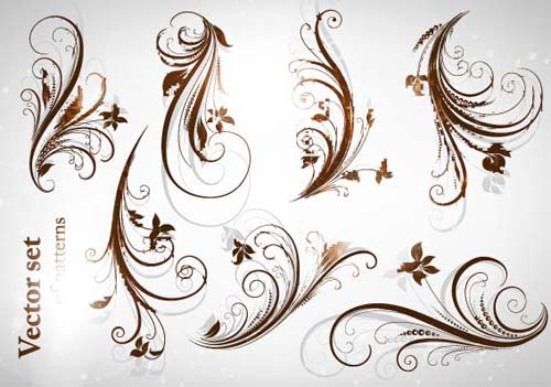 Different Patterns Of Floral Design Vector 03 Vector