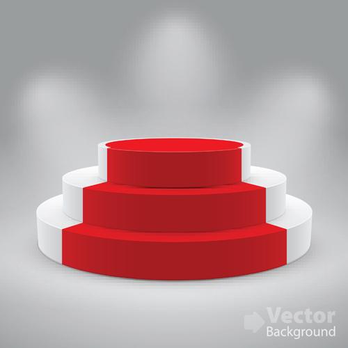 Elements Of Podium Background Design Vector 04 Vector