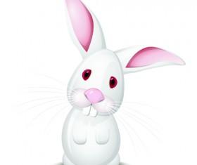Cute Rabbits vector elements 02