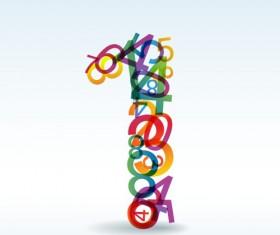 Set of Rainbow numbers elements vector 01