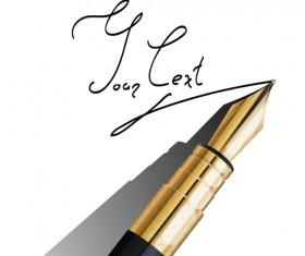 Different Realistic Pen design vector set 04