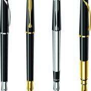 Link toDifferent realistic pen design vector set 05