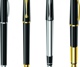 Different Realistic Pen design vector set 05
