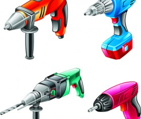 Different Power tools vector graphics 01