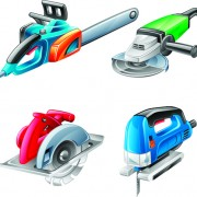 Link toDifferent power tools vector graphics 03