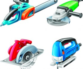 Different Power tools vector graphics 03