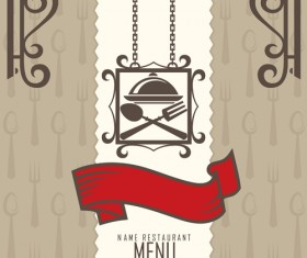 Restaurant menus design cover template vector 02