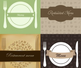 Restaurant menus design cover template vector 04