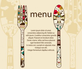 Restaurant menus design cover template vector 05