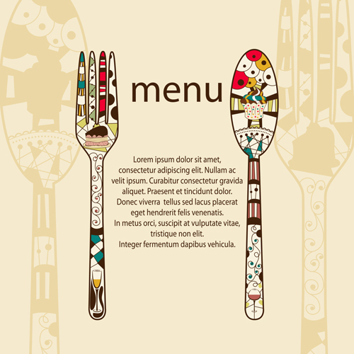 restaurant menus design cover template vector 05 free download
