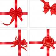 Link toGift card with red ribbons design vector 04