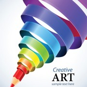 Link toCreative ribbons cone art background vector 04