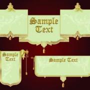 Link toSet of royal banner design vector 01