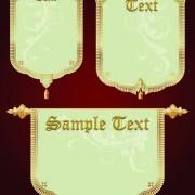 Link toSet of royal banner design vector 02