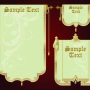 Link toSet of royal banner design vector 03