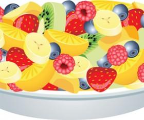 Elements of Salad mix vector graphic 03