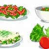 Elements of Salad mix vector graphic 05