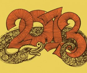 Set of 2013 year of snake design vector 12