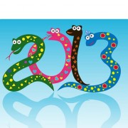 Link toSet of 2013 year of snake design vector 14