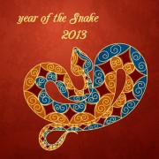Link toSet of 2013 year of snake design vector 17