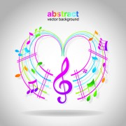 Link toElements of sheet music and music design vector 02