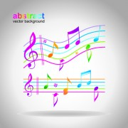 Link toElements of sheet music and music design vector 03