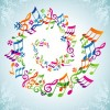 Elements of Sheet Music and Music design vector 05