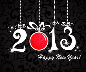 Shiny 2013 New year design elements vector 01