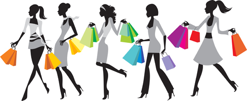 Hand drawing Stylish shopping elements vector set 01