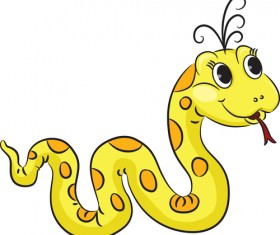 Cute Snake 2013 design elements vector material 02