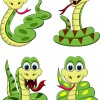Snake 2013 year elements vector material 01