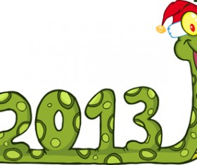 Snake 2013 year elements vector material 02