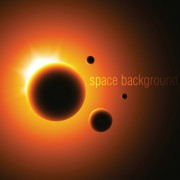 Link toSpace object backgrounds vector set 02