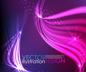 Sparkling lines Backgrounds Vector set 02