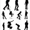 Different of Sport silhouette vector graphic set 02