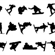 Link toDifferent of sport silhouette vector graphic set 04
