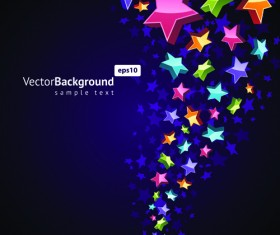 Colorful Stars with backgrounds vector set 01