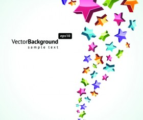 Colorful Stars with backgrounds vector set 03