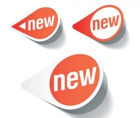 Color discount Stickers design vector graphics 04